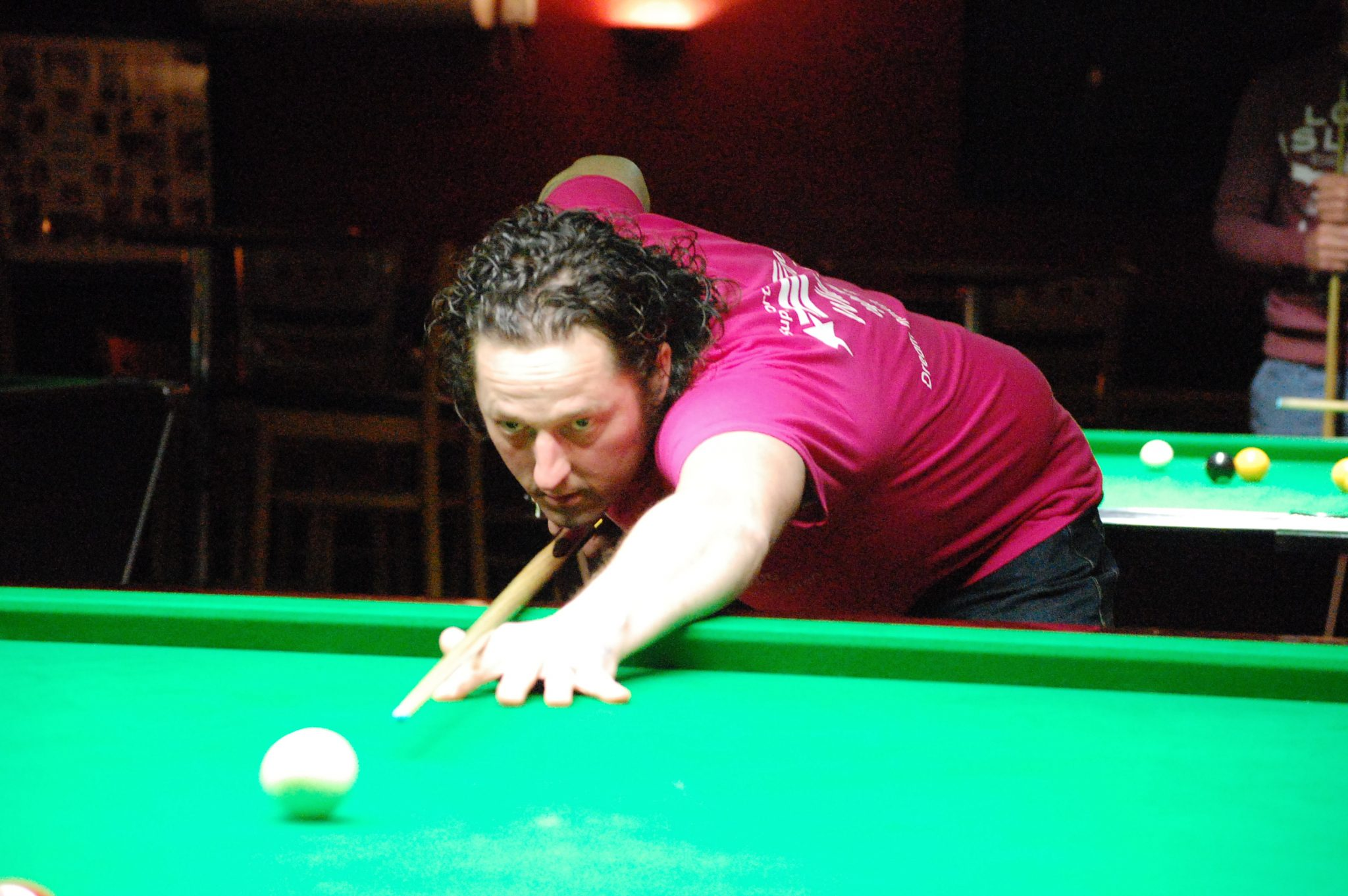 Steve wins another close frame at Stapleford Cue Club