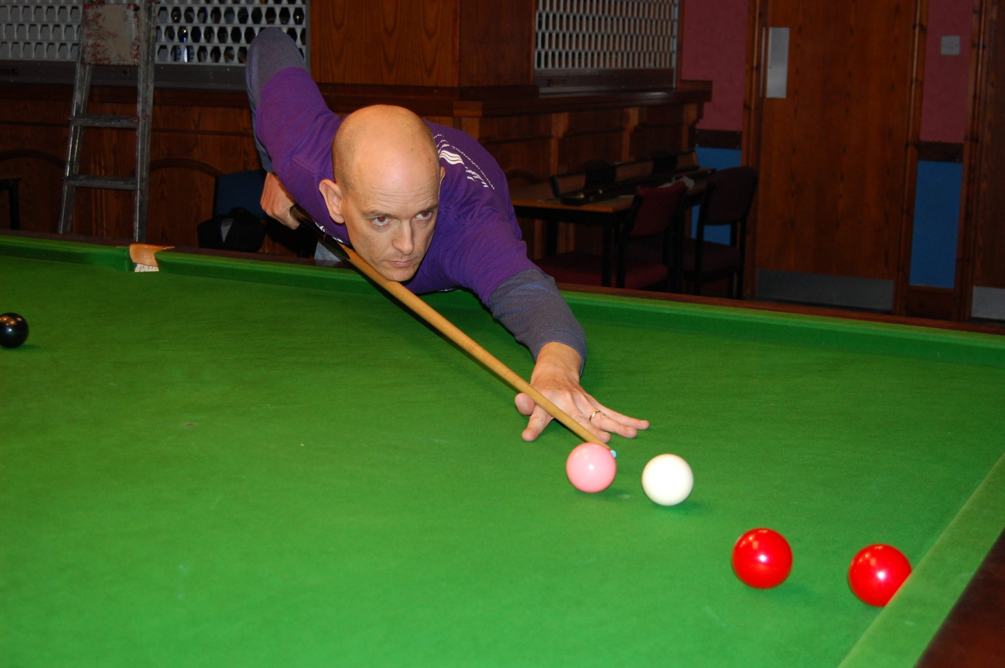 Jon works hard for a win at Arnold Labour Club