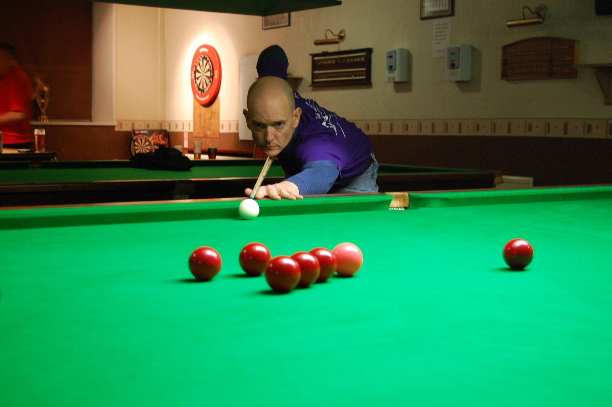 Jon hits form at Kirkby Cross Snooker Club