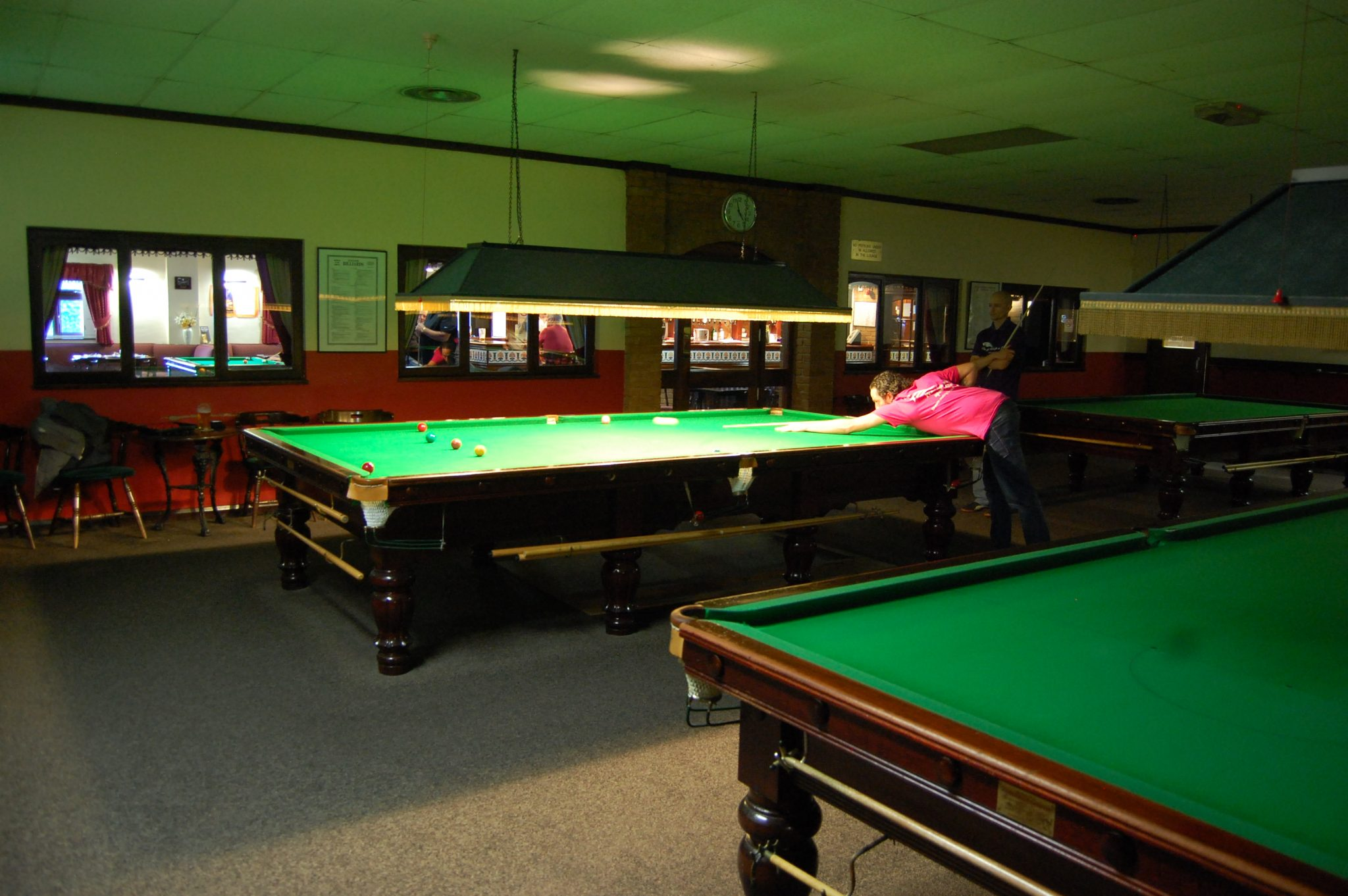 An easy win for Steve at Triple S Snooker Club
