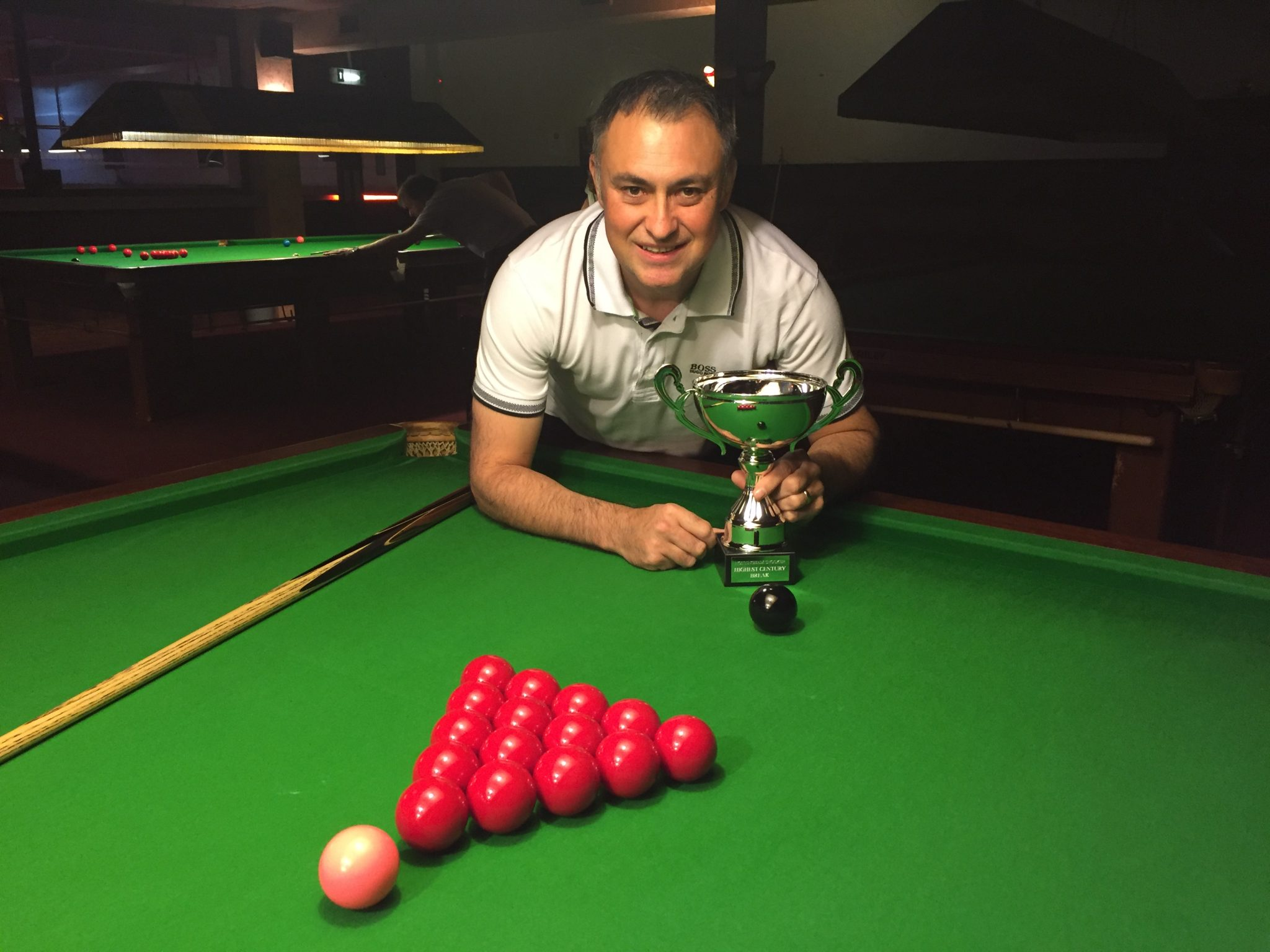 Wayne Martin presented with Highest Century Break Trophy in recognition of his magnificent 130 break