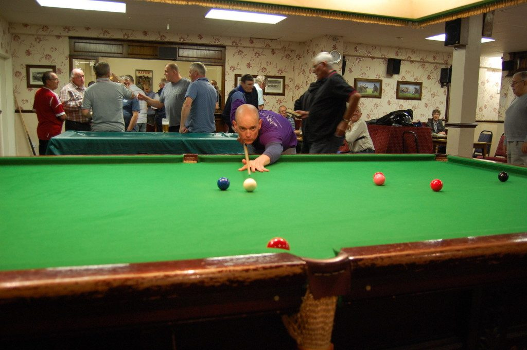 This club in Arnold had one snooker table.  I recall that when we visited the club, despite how busy it looks in the photo, it was struggling for members.  They did their best to keep it going but the writing was on the wall.  The club subsequently closed.