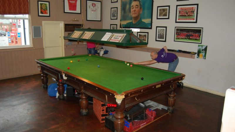 Snooker table removed from yet another club