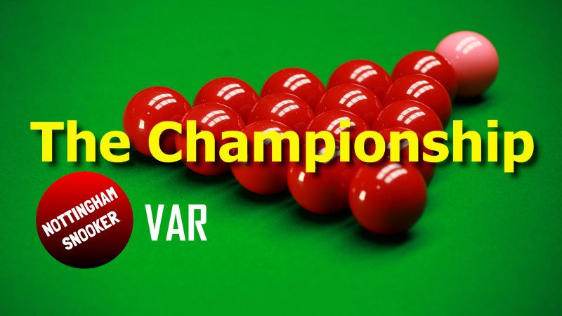 Enter the Nottingham Snooker Championship for a chance to win £500